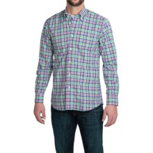 Gitman Brothers Cotton Plaid Sport Shirt - Button-Down Collar, Long Sleeve (For Men) in Green/Blue Multi - Closeouts