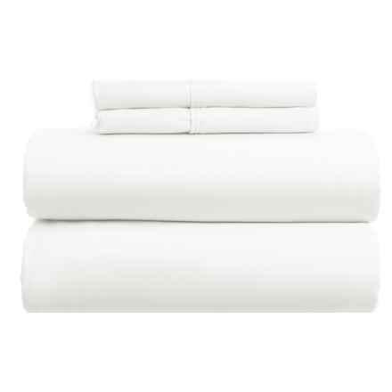 Gitman Brothers Cotton Rich Sheet Set - King, 1000 TC in White - Closeouts