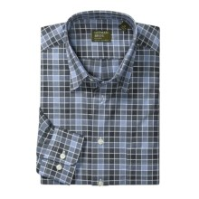 Gitman Brothers Cotton Sport Shirt - Hidden Button-Down Collar, Long Sleeve (For Men) in Charcoal/Blue - Closeouts