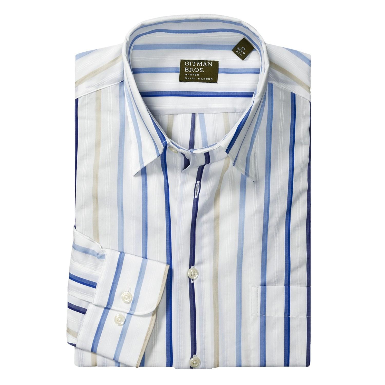 Gitman brothers cotton sport shirt hidden button down for Hidden button down collar shirts