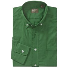 Gitman Brothers Cotton Sport Shirt - Long Sleeve (For Men) in Kelly Green - Closeouts