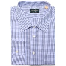 Gitman Brothers Dress Shirt - Long Sleeve (For Men) in Lavender/Navy/White Textured Check - Closeouts
