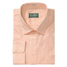 Gitman Brothers Dress Shirt - Spread Collar, Long Sleeve (For Big and Tall Men) in Peach - Closeouts