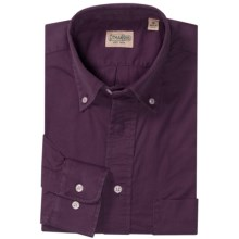 Gitman Brothers Enzyme-Washed Sport Shirt - Cotton, Long Sleeve (For Men) in Purple - Closeouts
