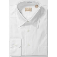 Gitman Brothers Fancy Dress Shirt - Long Sleeve (For Men) in White Pinpoint - Closeouts
