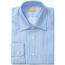 Gitman Brothers Fancy Stripe Dress Shirt - Long Sleeve (For Men) in Blue/White Texture - Closeouts