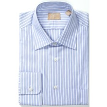 Gitman Brothers Fancy Stripe Dress Shirt - Long Sleeve (For Men) in White/Blue Stripe - Closeouts