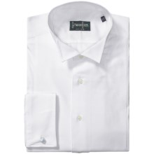 Gitman Brothers French Cuff Dress Shirt - Long Sleeve (For Men) in White Waffle - Closeouts