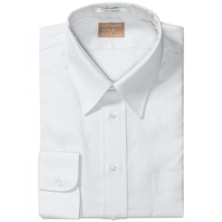 Gitman Brothers Gold Collection 2-Ply Dress Shirt - Pinpoint Collar, Long Sleeve (For Tall Men) in Ecru