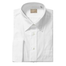 Gitman Brothers Gold Collection Dress Shirt - Spread Collar, Long Sleeve (For Tall Men) in White - Closeouts