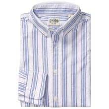 Gitman Brothers Multi-Stripe Sport Shirt - Long Sleeve (For Men) in White/Navy/Light Blue - Closeouts