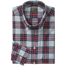 Gitman Brothers Patterned Sport Shirt - Button-Down Collar, Long Sleeve (For Men) in Red/Grey/Black/Blue Plaid - Closeouts
