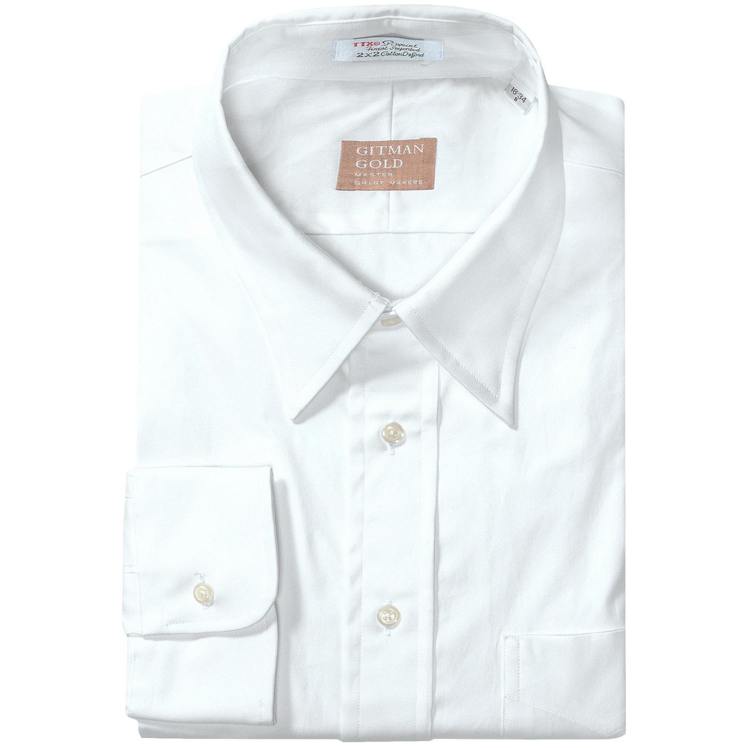 Gitman Brothers Pinpoint Cotton Dress Shirt 2 Ply Cotton