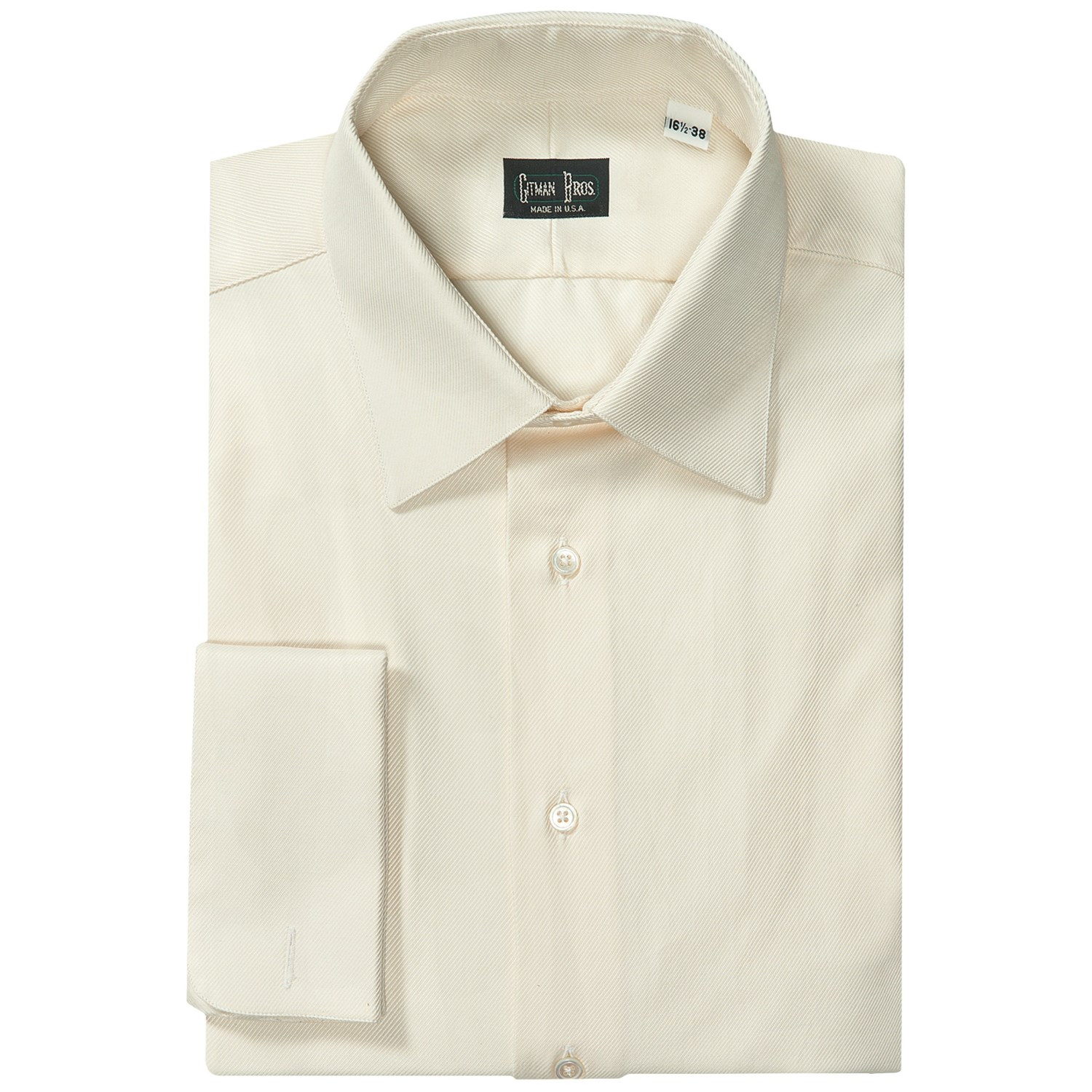 Gitman brothers pinpoint cotton dress shirt french cuff for Mens dress shirts french cuffs