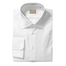 Gitman Brothers Pinpoint Cotton Dress Shirt - Spread Collar, Long Sleeve (For Tall Men) in White - Closeouts