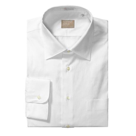 Gitman Brothers Pinpoint Cotton Dress Shirt - Spread Collar, Long Sleeve (For Tall Men) in White