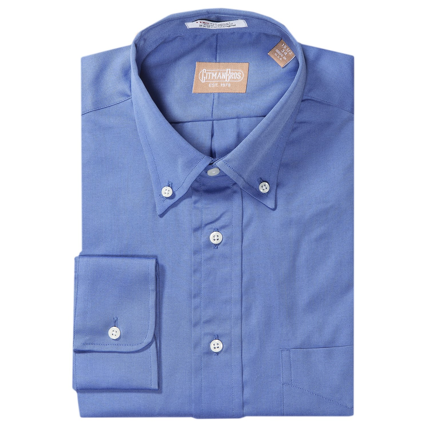Gitman brothers pinpoint cotton oxford dress shirt for Pinpoint button down dress shirt