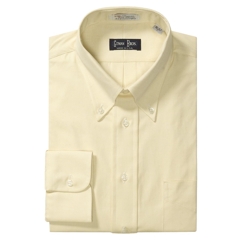 gitman brothers pinpoint oxford dress shirt long sleeve