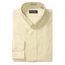 Gitman Brothers Pinpoint Oxford Dress Shirt - Long Sleeve (For Tall Men) in Banana - Closeouts