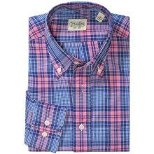 Gitman Brothers Plaid Sport Shirt - Long Sleeve (For Men) in Blue/Pink Plaid - Closeouts
