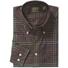 Gitman Brothers Plaid Sport Shirt - Long Sleeve (For Men) in Brown/Navy/Olive - Closeouts