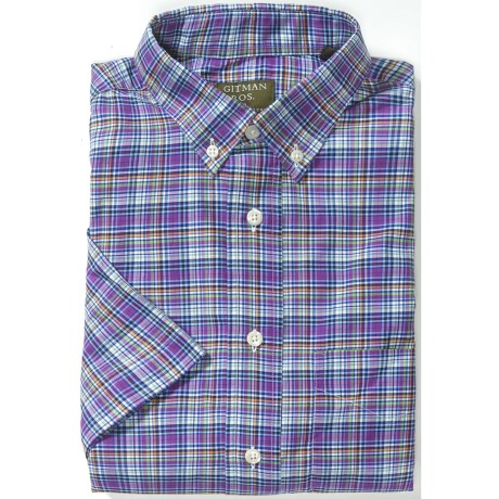 Gitman Brothers Plaid Sport Shirt - Long Sleeve (For Men) in Purple/Green/Orange/Blue