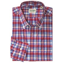 Gitman Brothers Plaid Sport Shirt - Long Sleeve (For Men) in Red/Blue/Green/White Plaid - Closeouts