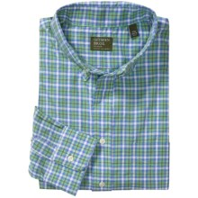 Gitman Brothers Plaids and Stripes Sport Shirt - Long Sleeve (For Men) in Blue/White/Green/Grey Plaid - Closeouts