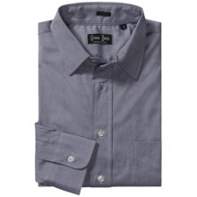 Gitman Brothers Point Collar Sport Shirt - Long Sleeve (For Men) in Blue/Grey Solid - Closeouts