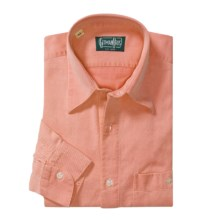 Gitman Brothers Point Collar Sport Shirt - Long Sleeve (For Men) in Orange - Closeouts