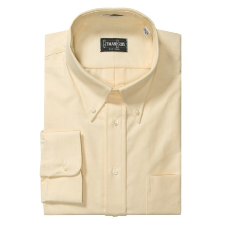Gitman Brothers Solid Oxford Dress Shirt - Long Sleeve (For Big Men) in Melon