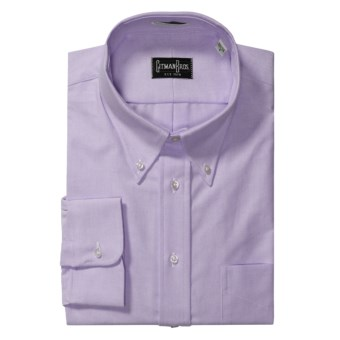 Gitman Brothers Solid Oxford Dress Shirt - Long Sleeve (For Big Men) in Lavender