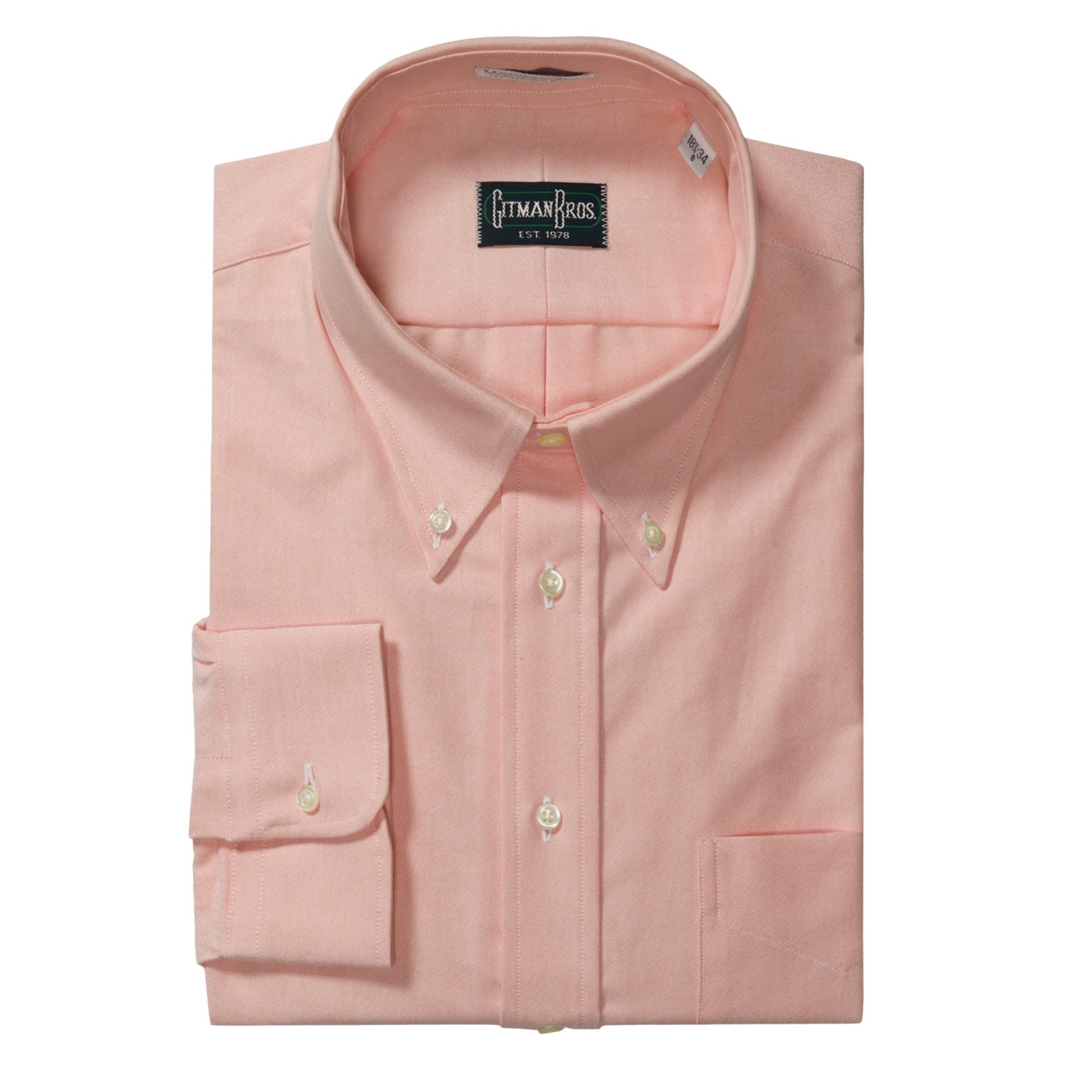 Gitman Brothers Solid Oxford Dress Shirt Long Sleeve