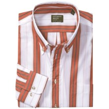 Gitman Brothers Sport Shirt - Long Sleeve (For Men) in Red/White/Grey Stripe - Closeouts