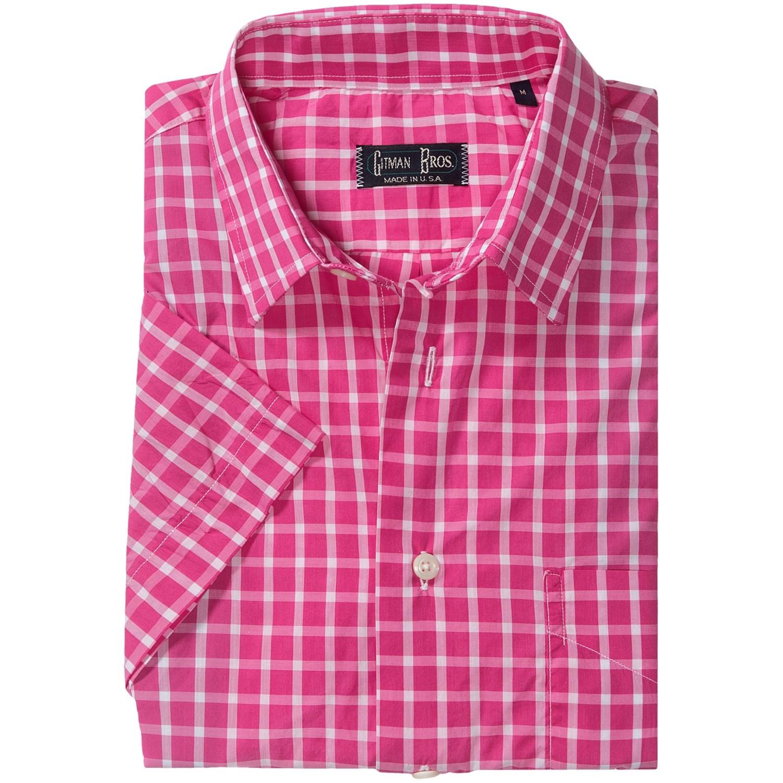 Gitman Brothers Sport Shirt Spread Collar Short Sleeve