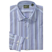 Gitman Brothers Spread Collar Sport Shirt - Long Sleeve (For Men) in Blue/Black/White Multi Stripe - Closeouts