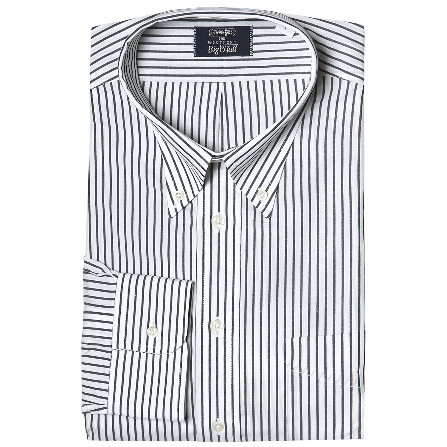 Gitman brothers stripe button down dress shirt long for Design your own t shirt big and tall