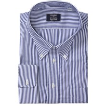 Gitman Brothers Stripe Button-Down Dress Shirt - Long Sleeve (For Big and Tall Men) in 41 Bengal Stripe - Closeouts