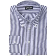 Gitman Brothers Stripe Dress Shirt - Long Sleeve (For Big & Tall Men) in 41 Bengal Stripe - Closeouts