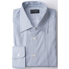 Gitman Brothers Stripe Dress Shirt - Point Collar, Long Sleeve (For Men) in White/Blues/Brown Stripe - Closeouts