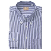 Gitman Brothers Striped Broadcloth Dress Shirt - Long Sleeve (For Tall Men) in 41 Blue/White - Closeouts
