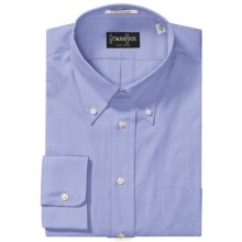 Gitman Brothers Tailored Fit Sport Shirt - Button Down, Long Sleeve (For Men) in Blue - Closeouts