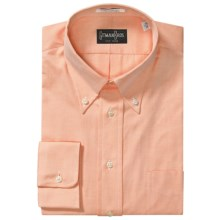 Gitman Brothers Tailored Fit Sport Shirt - Button Down, Long Sleeve (For Men) in Orange - Closeouts