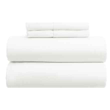 Gitman Brothers Westport Home Cotton Rich Sheet Set - Queen, 1000 TC in White - Closeouts