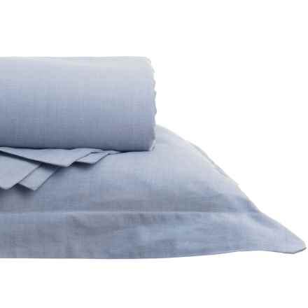 Gitman Brothers Westport Home Yarn-Dyed Chambray Duvet Set - King, 200 TC in Blue - Closeouts