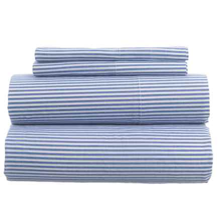 Gitman Brothers Westport Yarn-Dyed Oxford Stripe Duvet Set - Full-Queen, 200 TC in French Blue - Closeouts