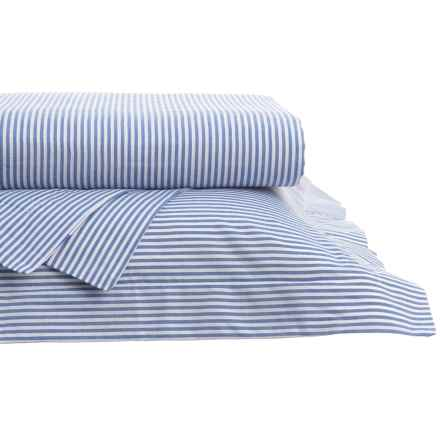 Gitman Brothers Westport Yarn-Dyed Oxford Stripe Sheet Set - Queen, 200 TC in French Blue - Closeouts