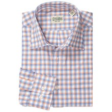 Gitman Brothers Windowpane Sport Shirt - Spread Collar, Long Sleeve (For Men) in Blue/Orange/White - Closeouts