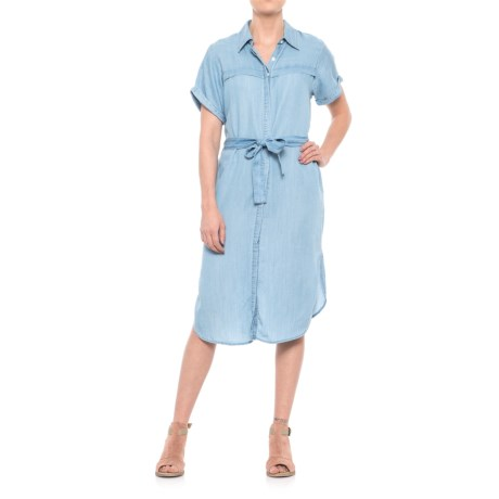 Given Kale Belted Shirtdress - Short Sleeve (For Women)