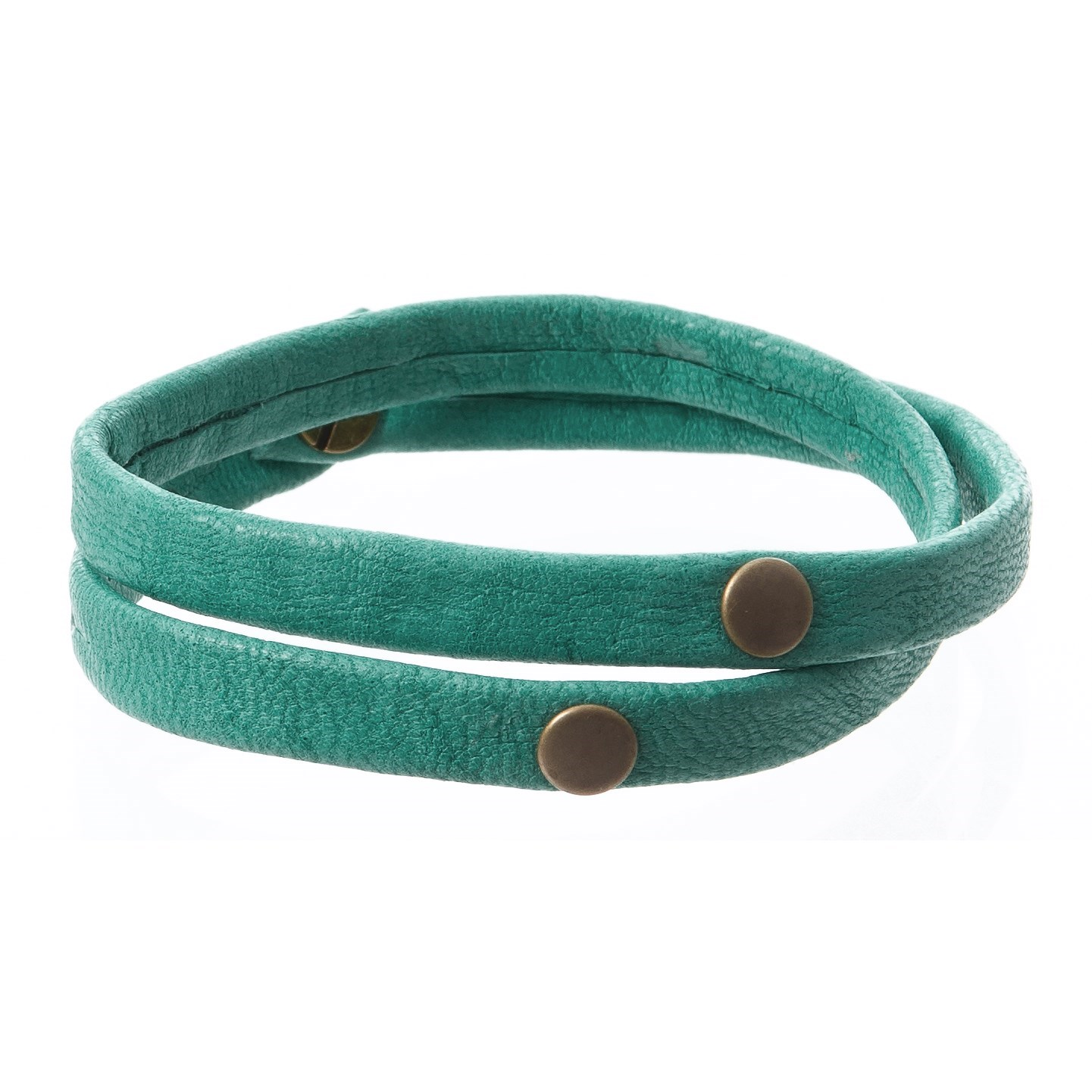 Giving Bracelet Double Warrior Wrap Leather